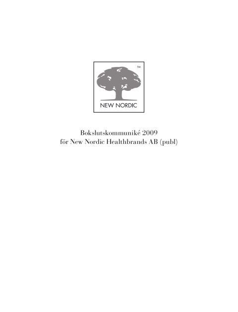 Bokslutskommuniké 2009