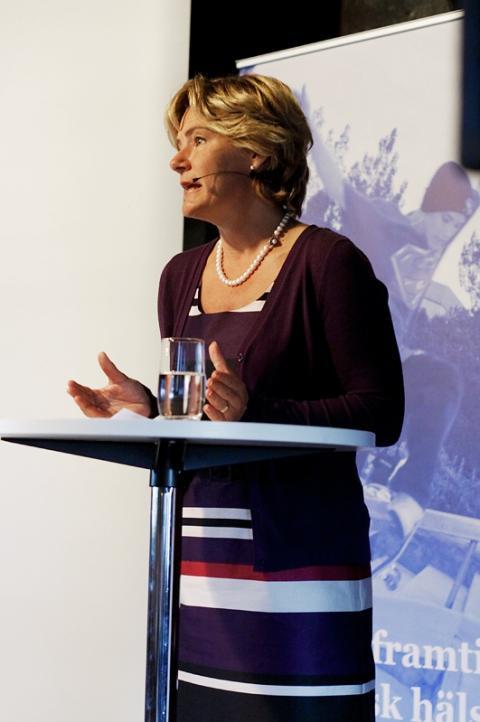 Folkhälsominister Maria Larsson