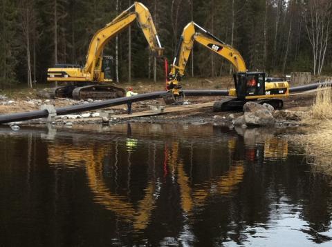 Förbättrad vattenmiljö i Hörnefors