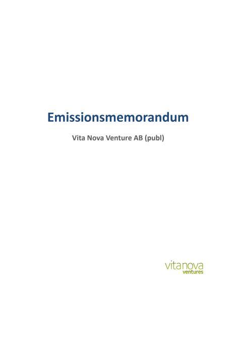 Emissionsmemorandum