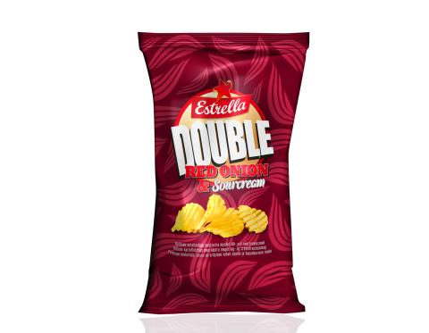 Nyhet! Double Red Onion & Sourcream Chips. Dubbelt så mycket smak!