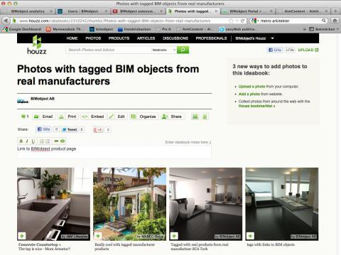 En idébok av BIMobject® på Houzz.com - exempel på BIMobject® inom sociala medier