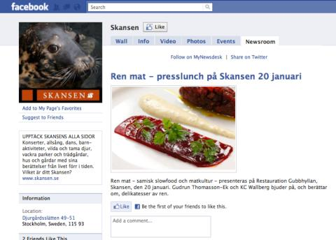 Presserom på Facebook, ikke bare for journalisten