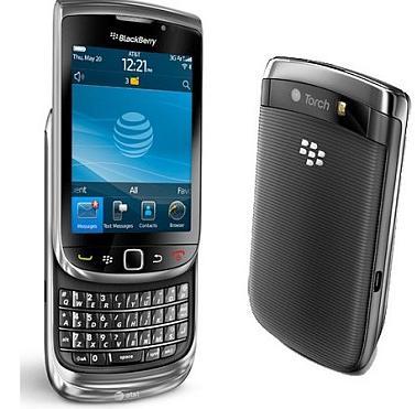 Blackberry Torch 9800 med pekskärm och Qwerty-tagentbord nu hos 3