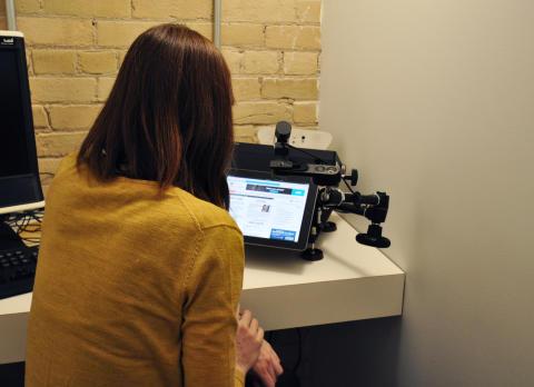Eye Tracking Study Ad Effectiveness iPad Tobii X60 Eye Tracker Respondent 1500px