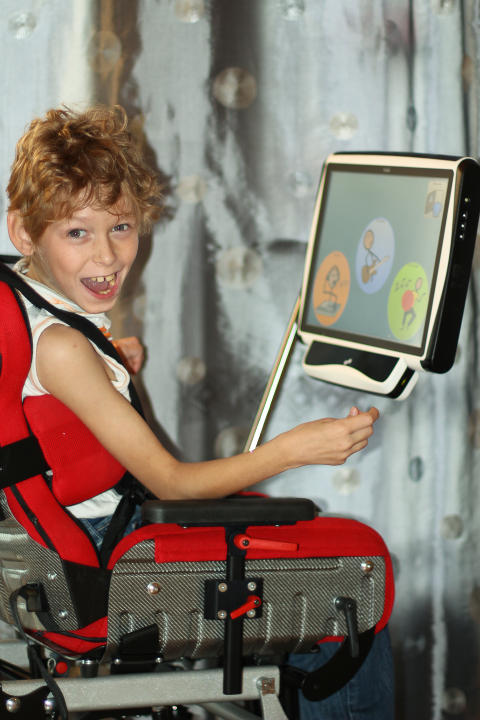 Ulrich and his Tobii AAC device