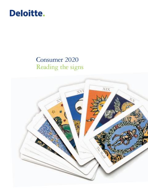 Consumer 2020 – Reading the signs