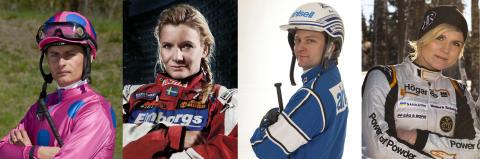 Motortjejer mot hästkillar i Racing med Rena Hästkrafter