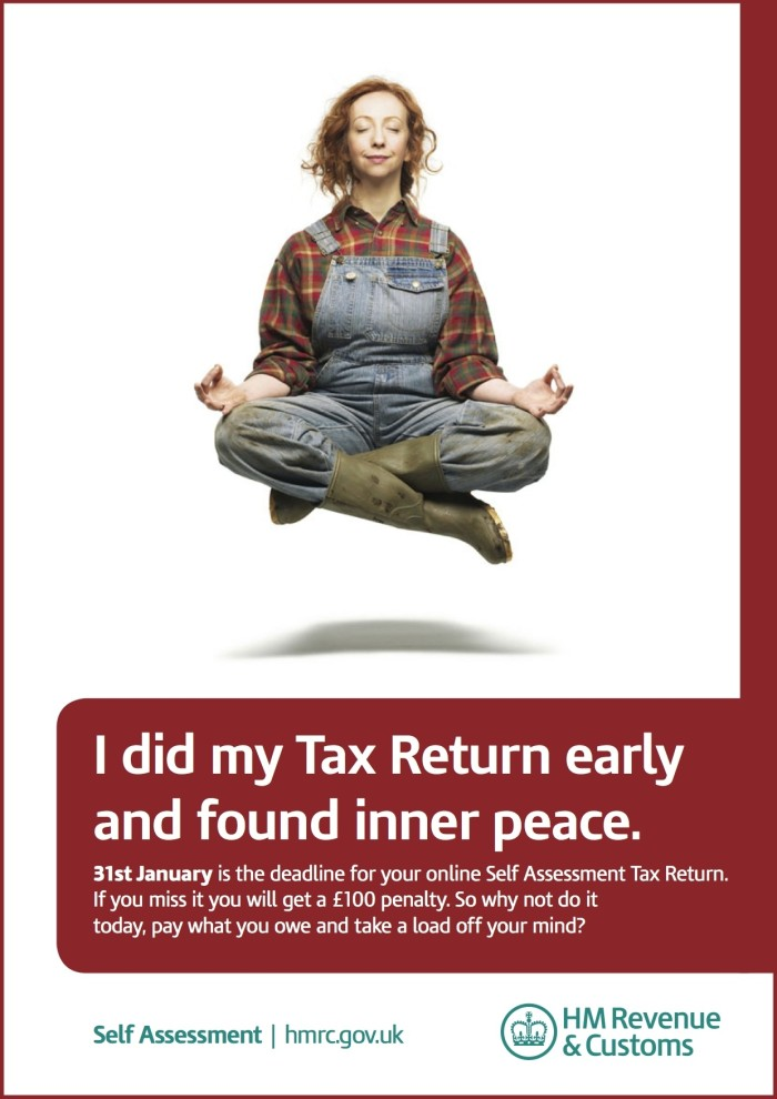 Find 'inner peace' � do your tax return now - HM Revenue & Customs ...