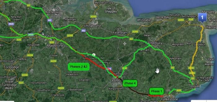 RAC advice to motorists heading to Dover and Folkestone