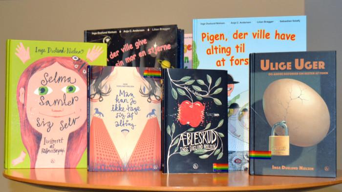 Inge Duelund Nielsen presenterade sina barnböcker.