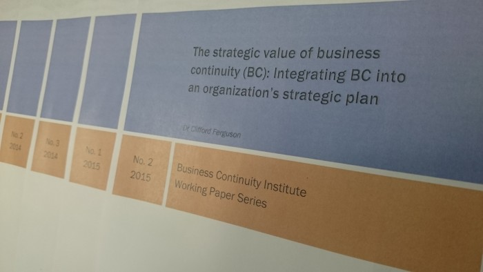 The strategic value of business continuity