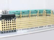 Här byggs Sveavägen 44 av 32 000 LEGO-bitar