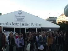 Hövding Guerilla event -- live crash outside Paviljongen, Mercedes-Benz Fashion Week