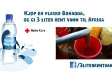 Bonaqua og Røde Kors samarbeider om 3 Liter vann til Afrika kampanjen