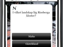 Demofilm för appen Sveriges historia-quiz