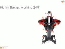 Roboten Baxter jobbar dygnet runt utan att bli trött