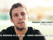 Nytt syn ga stjerne-suksess - I en ny reklamefilm forteller Freddy dos Santos om sin synsoperasjon