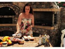 Matlagning med Fontana: Linnéa Seidel (Smörgås med fetaost, grillade grönsaker och ouzo)