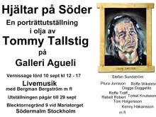 """Dogge är en av """"Hjältar på Söder"""" tillsammans med profiler som Plura, Höken, Olle Carlsson, Stefan Sundström och Rebell Robert mfl när Tommy Tallstig har vernissage på lördag hos Galleri Agueli"""