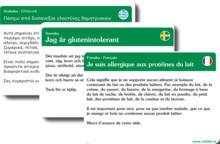 Res utan oro med Celiakiförbundets översättningskort