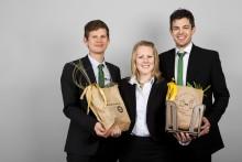 Ekonomiskt hållbar affärsidé för utvinning av biogas prisades i Venture Cup Väst