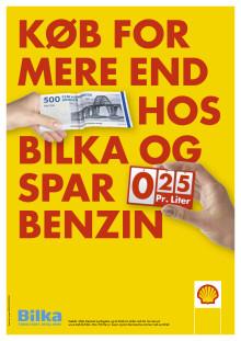 Shell og Bilka går sammen om billigere brændstof