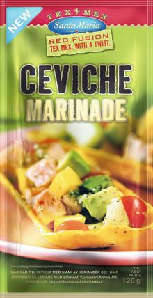 Premiär för Santa Marias Ceviche Marinade. Färdig fiskmarinad med smak av lime, chili och koriander.
