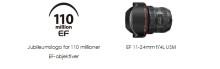 Canon har produsert 110 millioner utskiftbare  EF-objektiver