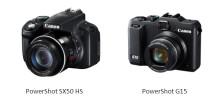 Canon lanserer det ekstremt lyssterke kompaktkameraet PowerShot G15 og PowerShot SX50 HS - verdens første kompaktkamera med 50x optisk zoom