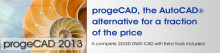progeCAD 2013 uudet ominaisuudet