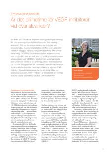 Överläkare Karin Boman: Ny forskning om genekologisk cancer – cytostatika, antikroppar och mTOR-hämmare