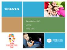Volvias undersökning av svenska föräldrars kunskap om barns säkerhet i bil.