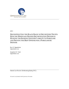 Deconstructing the Black Magic of Securitized Trusts