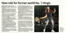 TheStar Newspaper: New role for former world No. 1 Hingis