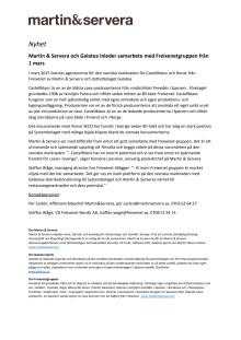 Nyhet: Martin & Servera i nytt samarbete med Freixenet-gruppen