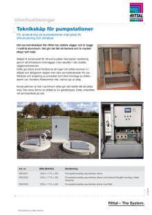 Teknikskåp för pumpstationer