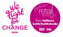 INDISKA är en av tre finalister i kategorin Årets Hållbara butik i Retail Awards 2015.