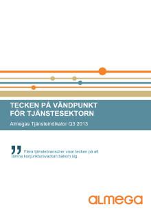 Almegas Tjänsteindikator Q3 2013