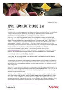 Faktablad om Scandic To Go