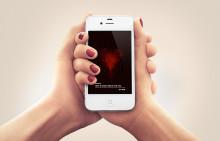 Ny app låter dig skicka dina hjärtslag på Alla hjärtans dag