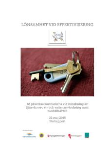 Nils Holgersson Effektiviseringsrapport 28 maj 2015