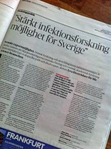 SwedenBIO på DN debatt - Stärkt infektionsforskning möjlighet för Sverige