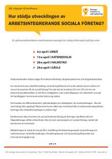 Konferens - Hur stödja utvecklingen av arbetsintegrerade sociala företag?