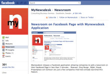 Presserum på Facebook med Mynewsdesk applikation