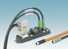 Distributor box for power applications