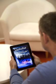 Tidningen Ljuskultur finns nu i en digital version för iPad, iPhone och Android