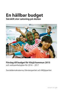 Oppositionens förslag till budget 2015