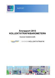 Årsrapport  Kollektivtrafikbarometern 2013