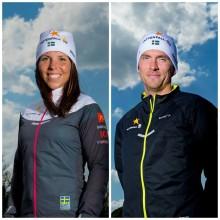 Charlotte Kalla och Johan Olsson firas på Stora Torget